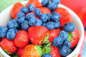 Strawberries Blueberries healthy skin