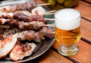 beer grilled meat