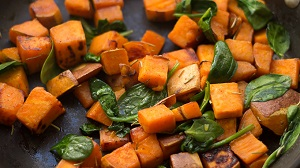spinach sweet potatoes superfoods skin